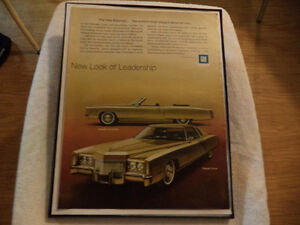 old cadillac classic car framed ads Windsor Region Ontario image 4