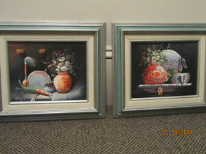Two Original Framed Oil Paintings from Mexico