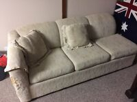 FREE 3-seater couch/hide-a-bed