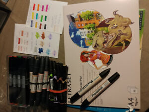 Alcohol based markers + paper