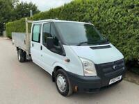 2012 62 Ford Transit T350 2.2 TDCi LWB DRW DOUBLE CAB DROPSIDE FLATBED PICK UP