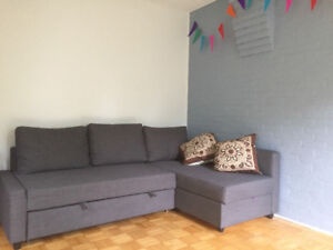 Centretown 2-bedroom apartment,fully furnished,short-term sublet