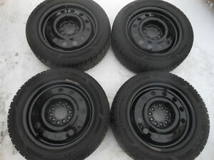 P195/55R15 Goodyear UltraGrip Winter Tires on Steel Rims