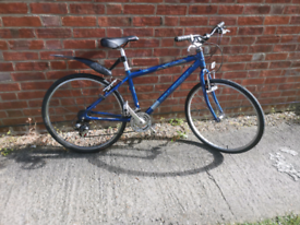"""Raleigh Mountain Bicycle Suitable for Small Adults. 26"""" Wheels."""