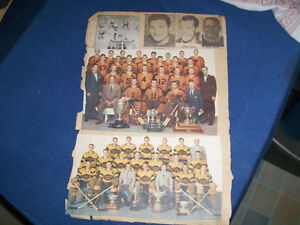 WHITBY DUNLOPS TEAM PHOTO-MAPLE LEAF GARDENS-1950'S PAGE-NHL