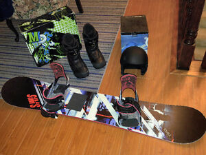 Sims Snowboard ( w/ boots, binding and helmet)