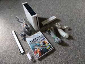 Wii Console Tested and Complete with Cords + Controller + Game