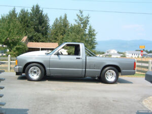 One of a kind 1991 Chevy S-10 Short Box Pickup Hot Rod.