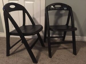 Plastic folding chairs - two