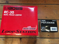 Boss RC-30 Dual Track Loop Guitar FX Pedal plus PSA-230ES Official Power Adaptor - Brand New!