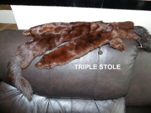 Pristine Condition- Triple Fur Stole