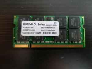 Cartes mémoire Ram pour ordinateur portable de 2 GB