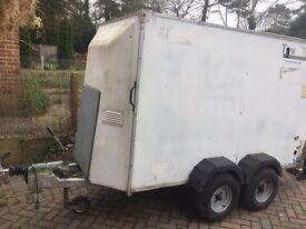 8x4 twin axel braked box trailer