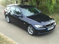 BMW 318 2.0TD SE Touring Manual Estate 2008/08 Blue Metallic Black Leather