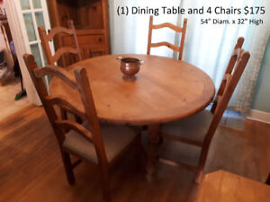 Dining Room Table & 4 Chairs (re-posted)