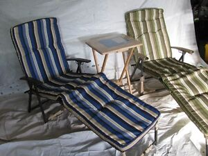 Patio Sun Chairs and folding Table for sale