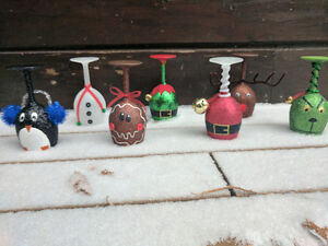Christmas Themed Wine Glass Candle Holders Peterborough Peterborough Area image 9