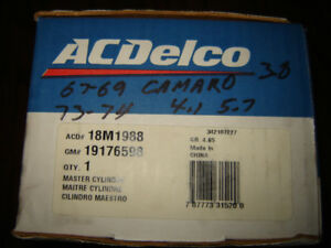 AC-Delco Brake master cylinder for Nova/Apollo/Ventura/Omega