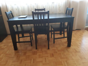 Table- IKEA, extendable,dark brown- LIKE NEW!!