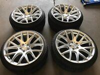 "18"" alloy wheels Alloys Rims tyre tyres Vw Volkswagen Seat Skoda audi 5x100"