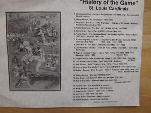 """FS: 1987 History Of The Game """"St. Louis Cardinals"""" Print with Le London Ontario image 3"""