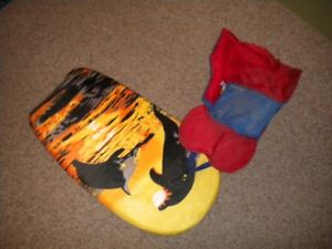 Boogey Board and Child Lifejacket.