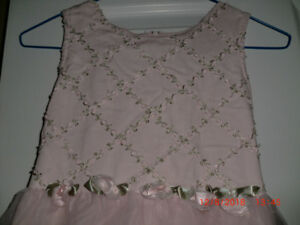 Girls Special Occasion Dress, Pink, sleeveless, Size 8