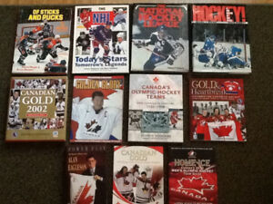 12 Hockey books $15 for all..