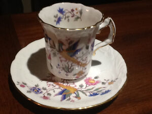 Hammersley & Co. Floral Print Demitasse Cup and Saucer Kitchener / Waterloo Kitchener Area image 1