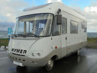 Hymer S650 A Class Motorhome on Mercedes chassis with end washroom