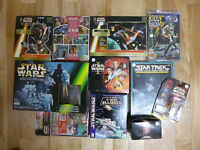 STAR WARS COLLECTION - 4 Boxes: figures, games, books, art  WOW!