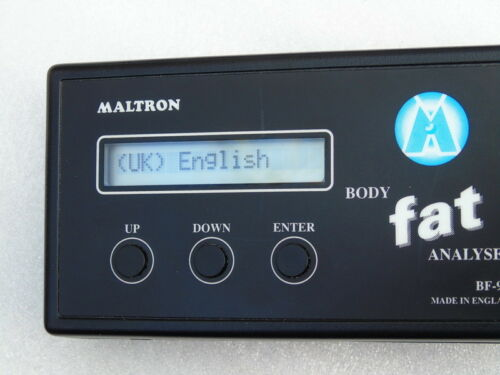 MALTRON BF-906 BODY FAT ANALYSER PERSONAL WEIGHT MANAGEMENT HEALTH SPORTS FITNES