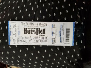 2 BAT OUT OF HELL-  ED MARVISH THEATRE TORONTO NOV 2. 8PM