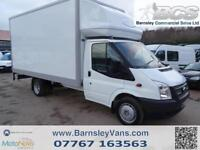 2012 62 FORD TRANSIT T350 LUTON 14.6FT 4.4M BOX WITH TAIL LIFT 125PS