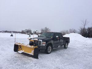 2008 FORD F350 TRUCK + 8 FT FISHER PLOW * snow removal, plow