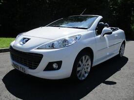 60/10 PEUGEOT 207 CC 1.6 GT IN WHITE WITH FULL BLACK LEATHER