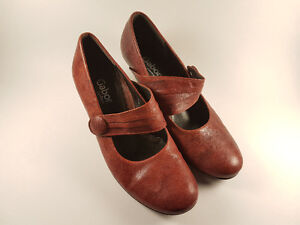 Red Leather Italian Gabor Shoes
