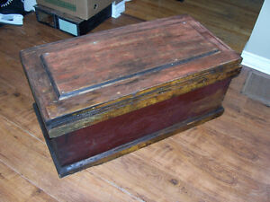 Antique Wooden Chest - Great Patina 38 by 19 and 16 deep Would M