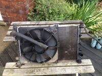 Radiator for 1.8deisel transit connect 02plate
