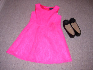 Girls' Holiday Dress and Shoes