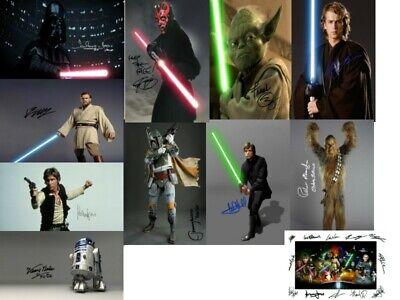 "Star Wars Episode 1-6 Signed Autograph PRINTS Bundle Joblot Collection 6x4"" Gift"