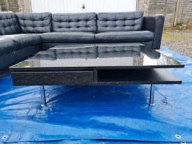 IKEA TOFTERYD High Gloss Black Coffee Table RRP £180 *DELIVERY*