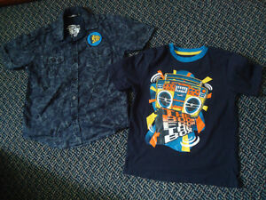 Boys Size 6 Short Sleeve T-Shirt and Dress Shirt Set Kingston Kingston Area image 1