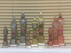Clocks London Souvenir Crystal Big Ben London Clock With Light Gold Wi
