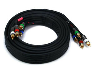 Monoprice 10ft 5-RCA Component Video/Audio Coaxial Cable