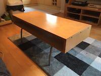 Pale wood coffee table