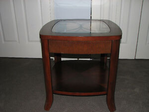 Glass Topped End Tables