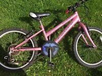 """Lovely girls 20"""" bike fair condition"""