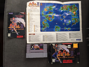 Lufia II: Rise of the Sinistrals - SNES - Box, Manual, Map, Cart