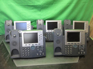 5x Cisco CP-7965G Color LCD IP VOIP Phones - PoE - w/ stands as-